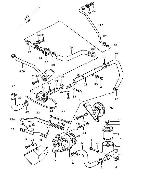 Porsche 928 1978-1982 Air pump 78 M28.03/04