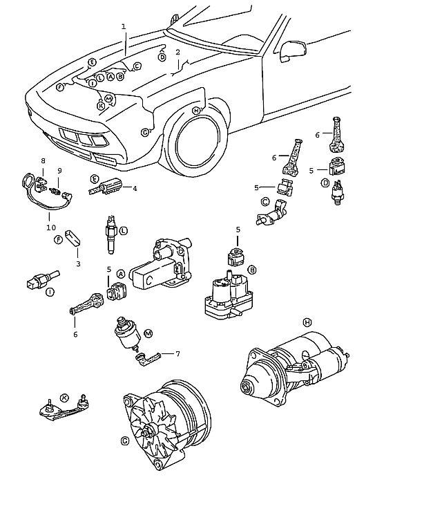 Porsche 928 1983-1986 Ground cable engine body