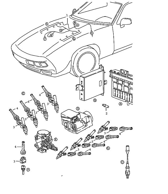 Porsche 928 1983-1986 Wiring harness l-jetronic