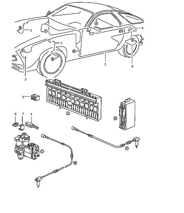 Porsche 928 1983-1986 Wiring harness