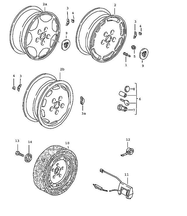 Porsche 928 1987-1991 Alloy wheel 8 j x 16 et 52.3 for