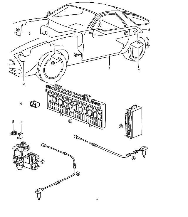 Porsche 928 1987-1991 Ground strap