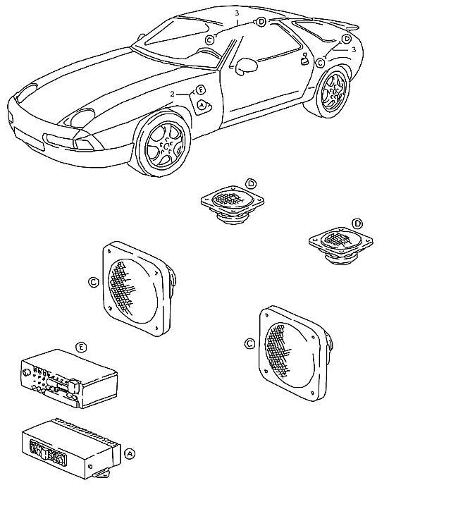 Porsche 928 1992-1995 Wiring harness