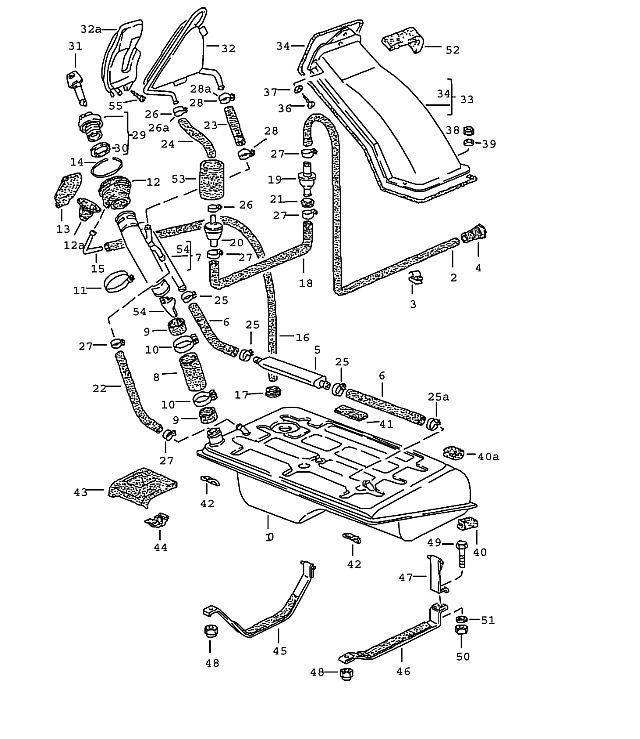 Porsche 944 1982-1985 Lock cylinder with keys w/o