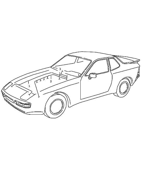 Porsche 944-2 1985-1988 Engine wiring harnes 88 944S