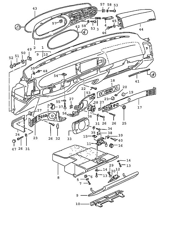 Service manual [1989 Porsche 944 Glove Box Installation