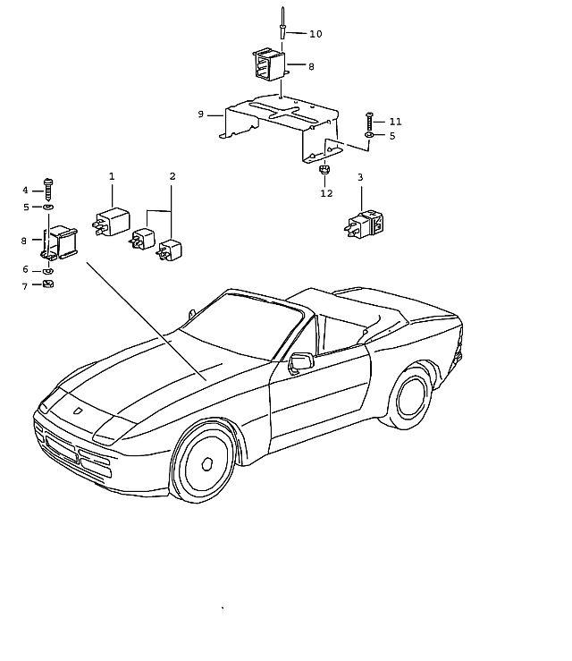 Porsche 944-2 1989-1991 Slow-action relay