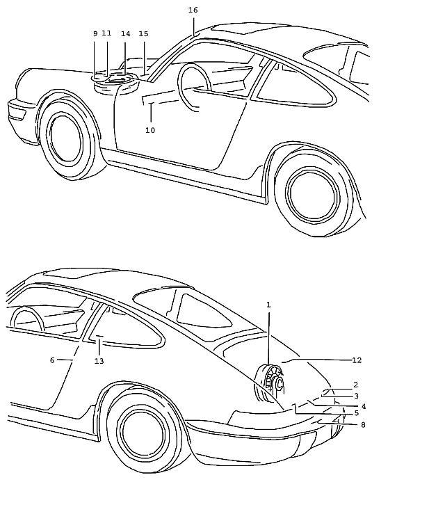 Porsche 964 1989-1994 Sticker tyre pressure (-92),…