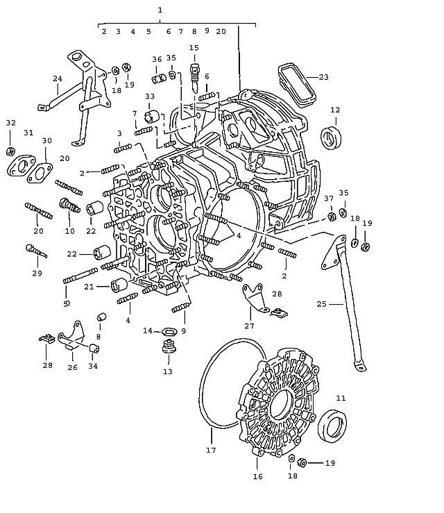 Porsche 964 1989-1994 Transmission case, (G50.52)…