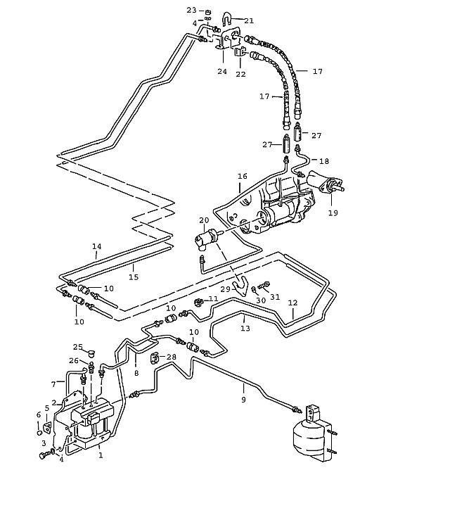 Porsche 964 1989-1994 Slave cylinder…