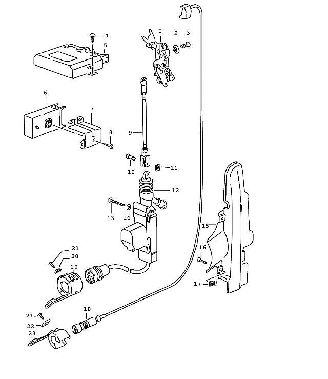 Porsche 964 1989-1994 Control unit alarm system ce…