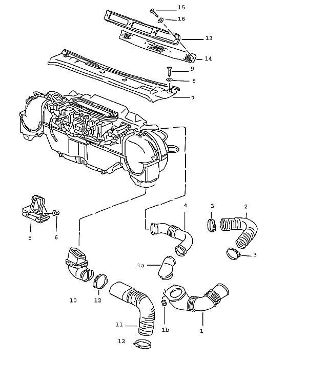 Porsche 964 1989-1994 Air duct (/L)…