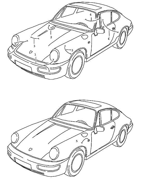 Porsche 964 1989-1994 Wiring harness NR.4 headlamp…