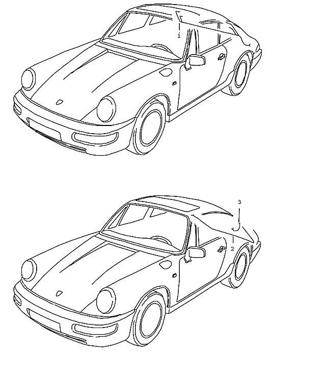 Porsche 964 1989-1994 Ground strap for bonnet s…