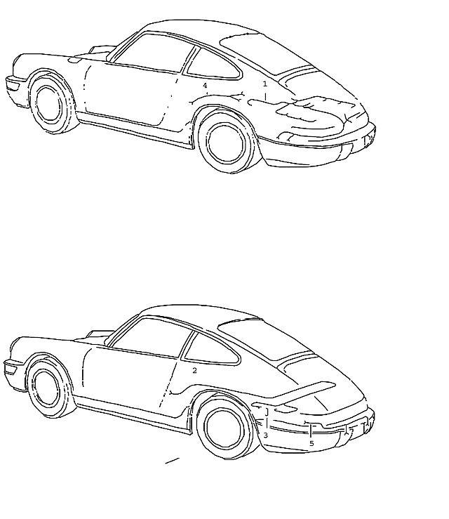 Porsche 964 1989-1994 Wiring harness NR.16 engine