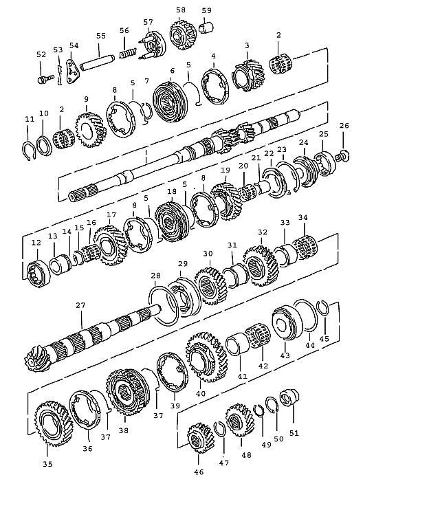 Porsche 968 1991-1995 Four-point bearing