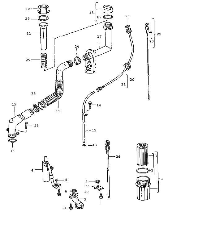 Porsche Boxster/986 1997-2004 Oil dipstick guide tube