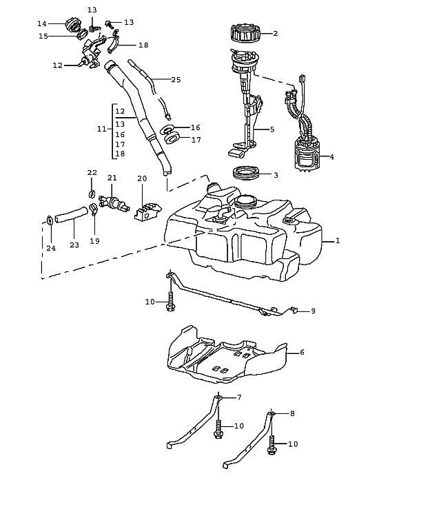 Porsche Boxster/986 1997-2004 Fuel tank vent valve