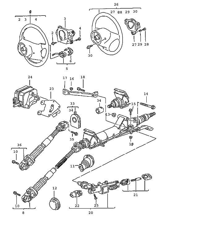Porsche Boxster/986 1997-2004 Steering angle sensor see
