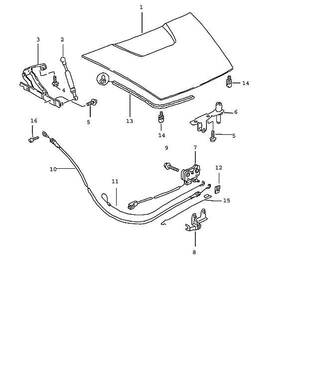 Porsche Boxster/986 1997-2004 Rear trunk latch emergency