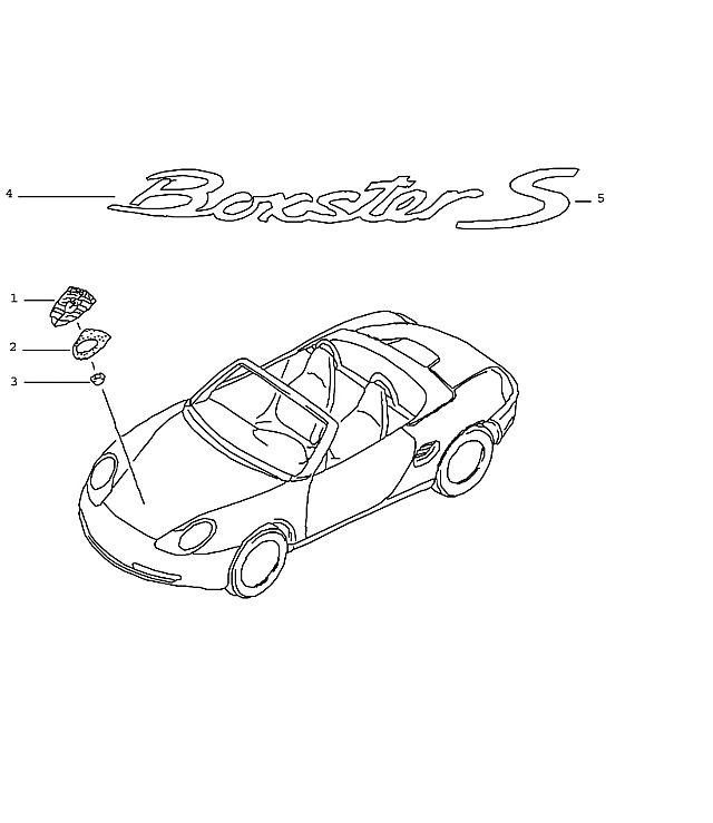 Porsche Boxster/986 1997-2004 Hood emblem, new 0