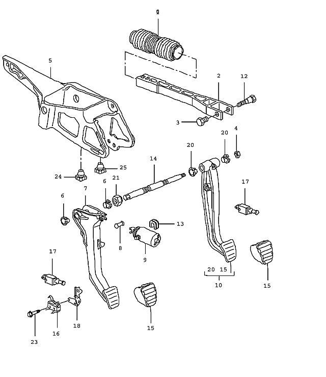 Porsche Boxster/987 2005-Pres Brake light switch/