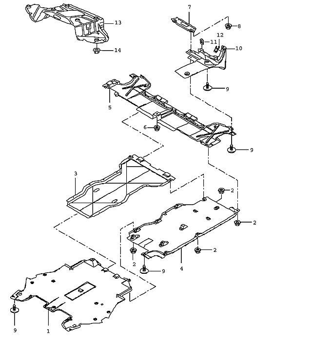 Porsche Porsche Boxster/987 2005-Pres Tapping screw 4.8x16