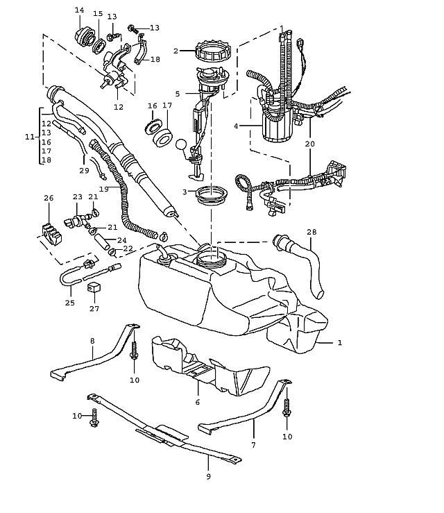 [2003 Porsche Boxster Change Gas Tank Vent Line