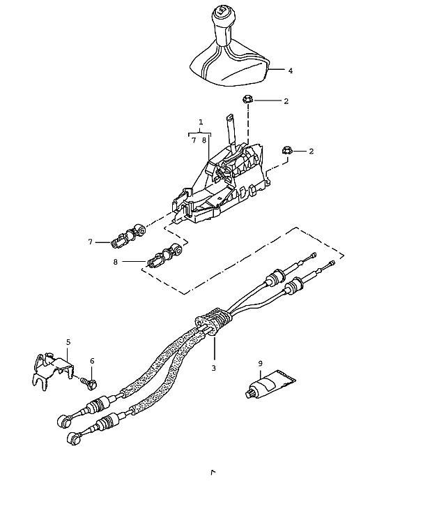 Porsche 997 2005-Pres Cable transmission control