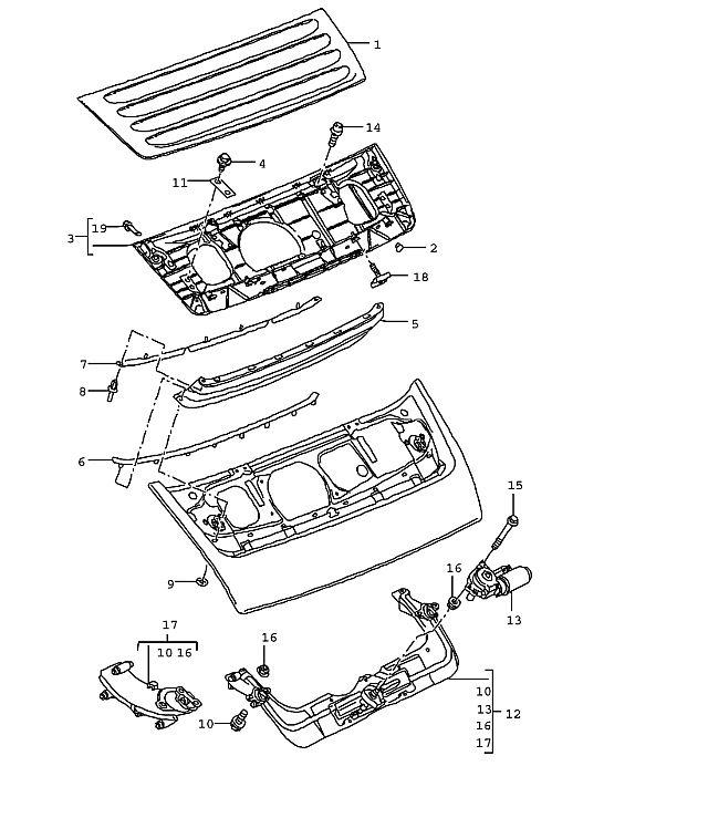 Porsche 997 2005-Pres Rear spoiler motor