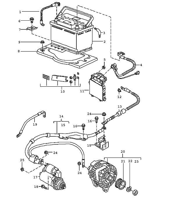 Porsche 997 2005-Pres Ground strap engine body