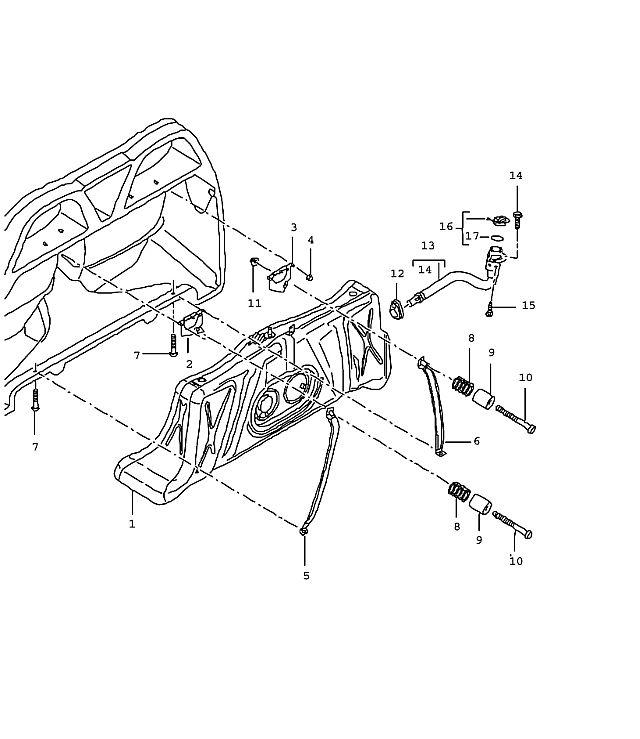 Porsche Carrera GT Fuel tank complete
