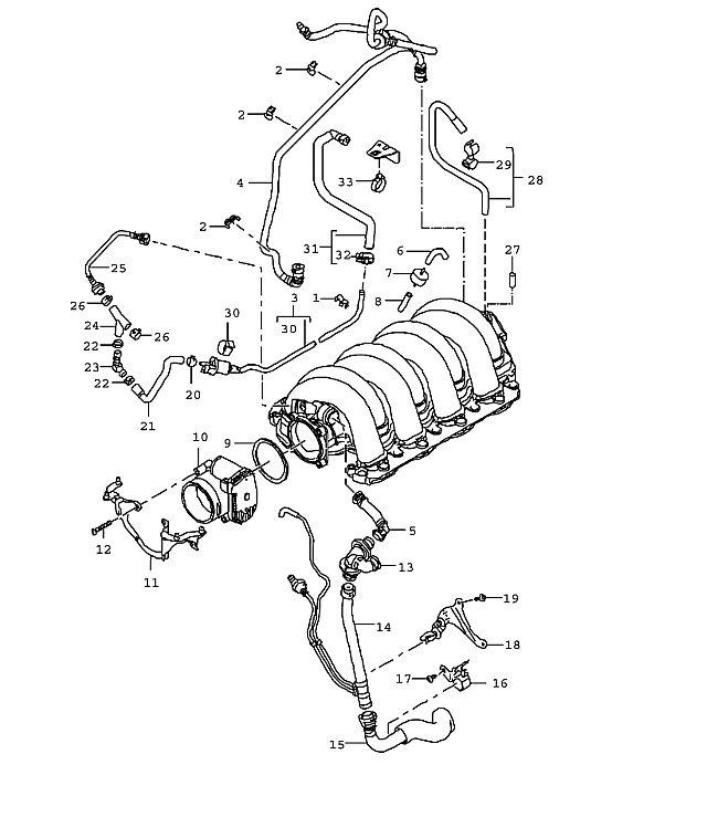 Porsche Cayenne Vent line crankcase M48.00