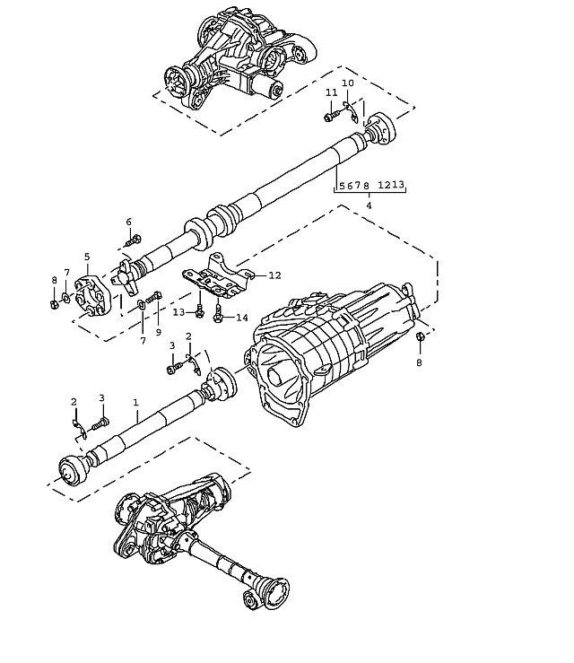 Porsche Cayenne Cardan shaft 1246-mm 3 IT91