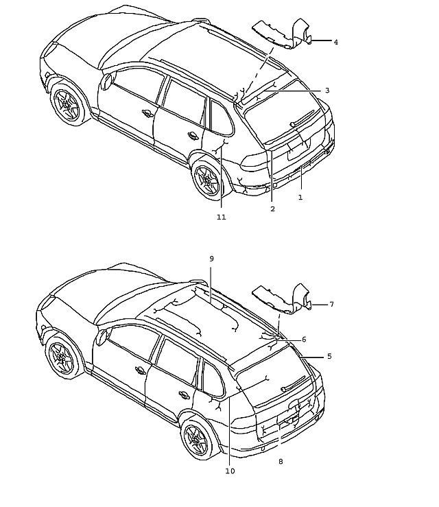 Porsche Cayenne Wiring harness wiring harness bracket
