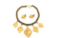 Coco Chanel Authentic Gold Tone Diamond Shape Pendants ...