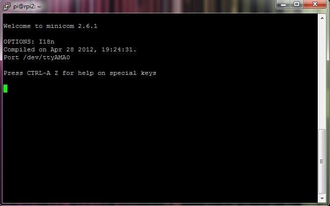 Minicom (Screenshot PuTTY)