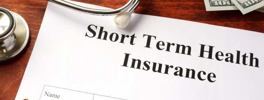 short term health insurance form