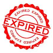 red expired word round life insurance