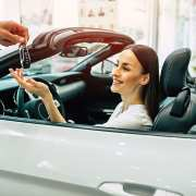 rental car insurance for a woman