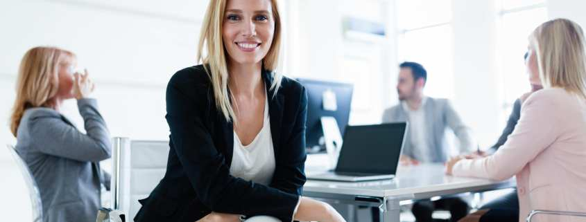 attractive woman insurance agent