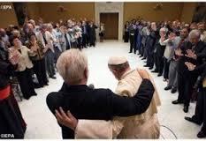 Representantes de diversos países foram até Roma conversar com o líder católico