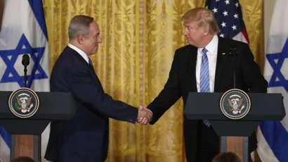 "Trump promete ""grande acordo de paz"" entre Israel e Palestina"