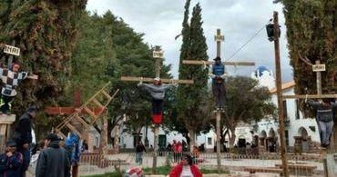 Para pedir a paz no mundo, argentinos crucificaram um menino de 9 anos