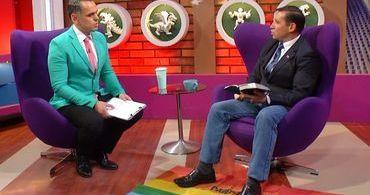 Pastor é expulso de programa de TV após pisar em bandeira gay