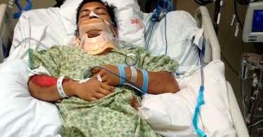 """Homem atropelado por rolo compressor de 25 toneladas sobrevive: """"Foi a mão de Deus"""""""
