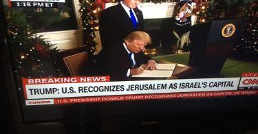 Momento histórico, Estados unidos reconheceram Jerusalém como capital de Israel