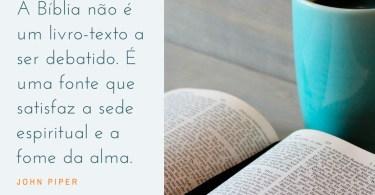 A Bíblia não é um livro-texto