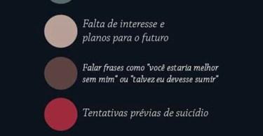 5 sinais de que alguém está considerando suicídio: