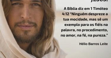 Os jovens podem ser bons exemplos de Jesus.